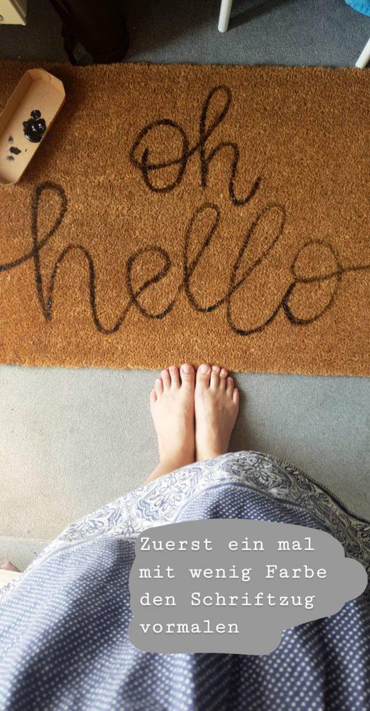 DIY Fußmatte